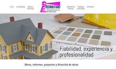 Web de Techno Faro, empresa de obras y reformas en Sevilla
